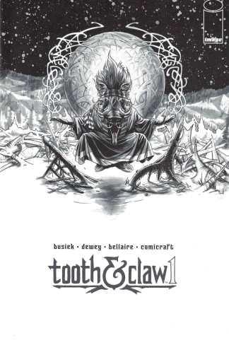 Autumnlands Tooth & Claw #1 Sketch Variant Image Comics 2014 Kurt Busiek