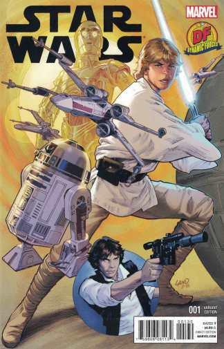 Star Wars #1 Dynamic Forces Greg Land Variant Marvel 2015 With COA