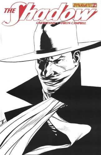 Shadow #2 1:100 John Cassaday Black White Sketch Variant Dynamite 2012