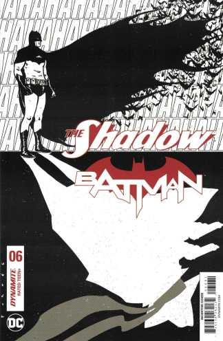 Shadow Batman #6 1:30 Fornes Black & White Sketch Variant Cover H Dyamite
