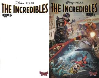 Incredibles #0 Blank & Incredibles #1 Edwards FF Homage Disney Pixar Variant Set