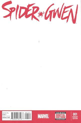 Spider-Gwen #1 Blank Sketch Variant Stacy Man Verse Marvel 2015 Latour Rodriguez
