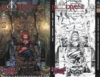 Bloodrayne Lycan Rex #1 Walker Ultimate Comics B&W Sketch & Color Variant Set