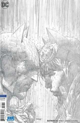 Batman #50 1:100 Jim Lee Pencils Only Sketch Variant Catwoman Wedding