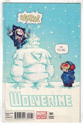 Wolverine #1 Skottie Young Baby Variant 2013 Cyclops X-Men Berserker VF/NM