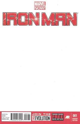 Iron Man #1 Blank Sketch Variant Marvel Now 2012