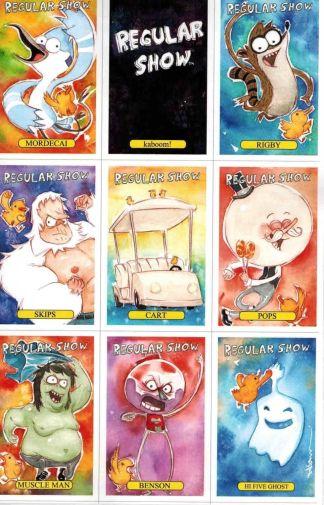 Regular Show #1 Dustin Nguyen Trading Card Variant Cartoon Network BOOM! 2013