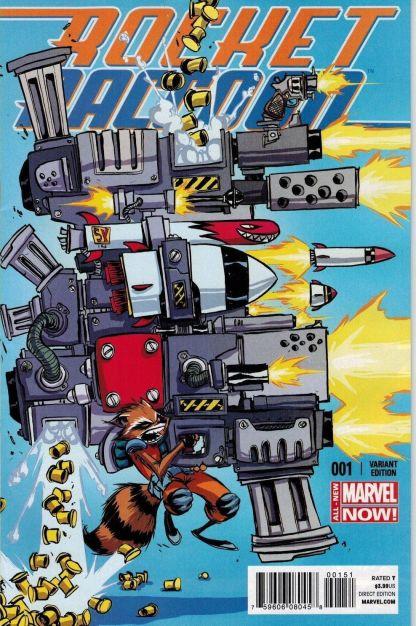 Rocket Raccoon #1 Skottie Young Variant Guardians of the Galaxy 2014