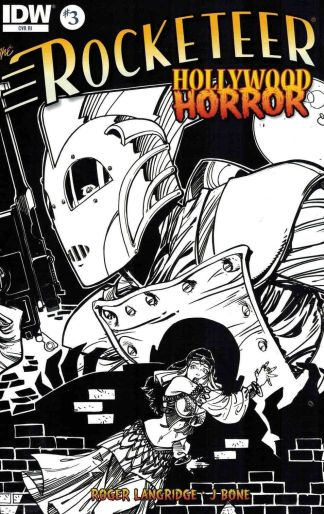 Rocketeer: Hollywood Horror #3 1:10 Black and White Sketch Variant