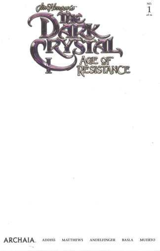 Dark Crystal Age of Resistance #1 Blank Variant Boom Archaia 2019 Jim Hensons