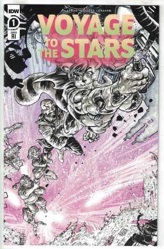 Voyage to the Stars #1 1:10 Freddie Williams II RI Variant IDW 2020 VF/NM