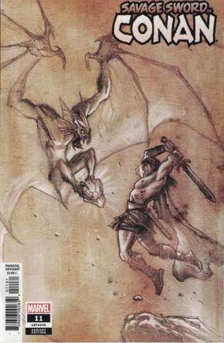 Savage Sword of Conan #11 1:50 Juan Ferreyra Pencils Variant Marvel 2019