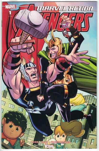 Marvel Action Avengers #1 1:10 Jacob Edgar Variant RI IDW Marvel 2020 VF/NM