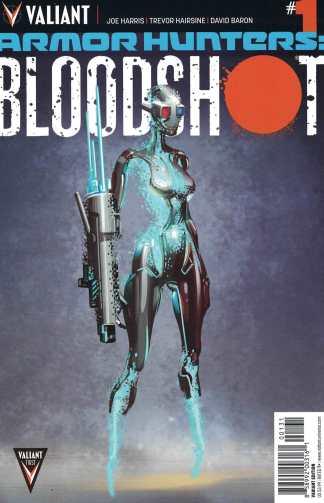 Armor Hunters Bloodshot #1 1:10 Clayton Crain Variant Valiant 2014