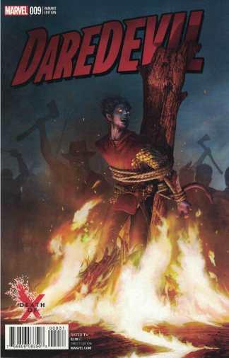 Daredevil #9 Rahzzah Death of X Variant Marvel 2016