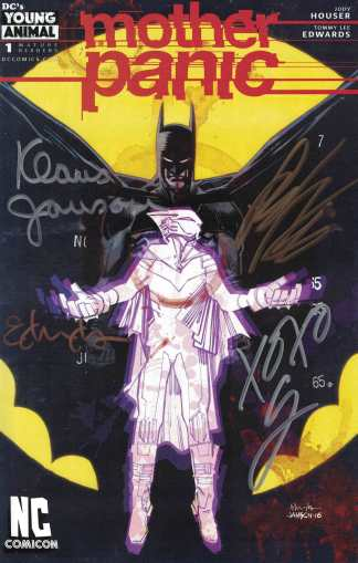 Mother Panic #1 NC Comicon Exclusive SIGNED by Houser, Edwards, Janson, Way!