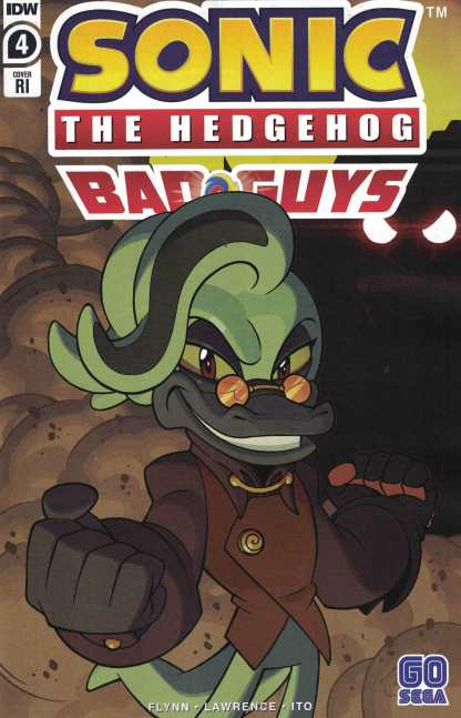 Sonic the Hedgehog Bad Guys #4 1:10 Jack Lawrence Variant IDW 2020 Dr. Starline