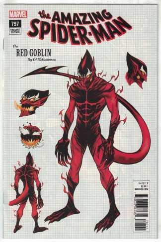 Amazing Spider-Man #797 1:10 Ed McGuinness Red Goblin Design Variant VF/NM