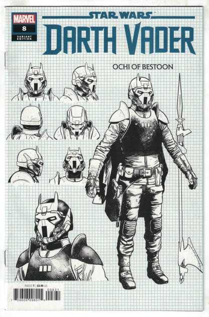 Star Wars Darth Vader #8 1:10 Raffaele Ienco Design Variant Marvel 2020 VF/NM