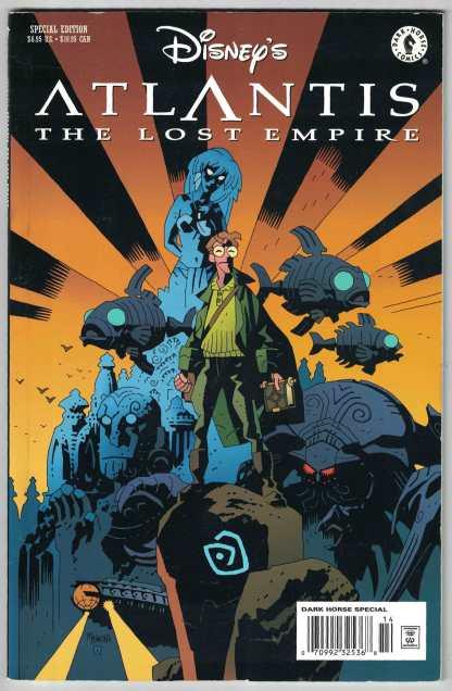 Disney's Atlantis The Lost Empire Comic Adaptation Dark Horse 2001 Mignola VF/NM