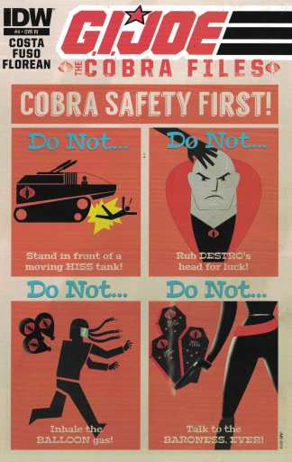 GI Joe Cobra Files #4 1:10 James Biggie Variant IDW 2013