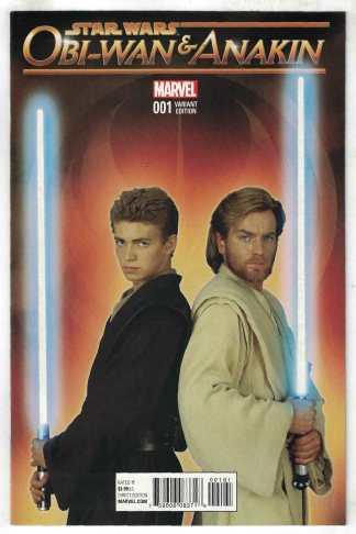 Obi-Wan and Anakin #1 1:20 Photo Variant Marvel Star Wars 2016 Clone VF/NM