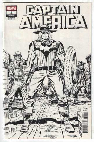 Captain America #3 1:100 Kirby Remastered Black White Sketch Variant 2018 VF/NM