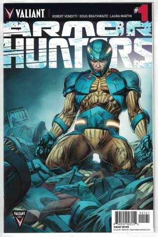 Armor Hunters #1 1:50 Doug Braithwaite Retailer Variant Valiant 2014 VF/NM