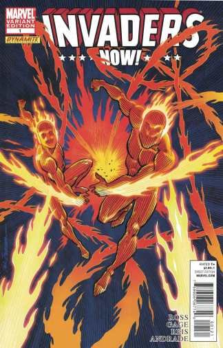 Invaders Now #1 1:25 Sal Buscema Human Torch Variant Marvel 2010