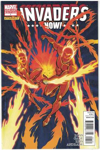 Invaders Now #1 1:25 Sal Buscema Human Torch Variant Marvel 2010 VF/NM