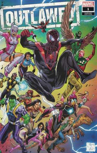 Outlawed #1 Tony S Daniel Wraparound Variant Marvel 2020 Champions