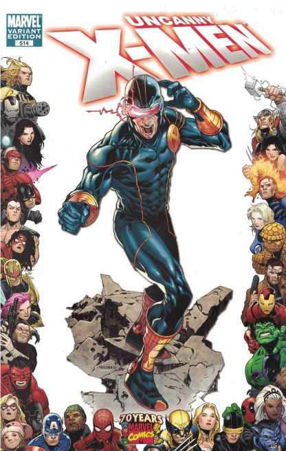 Uncanny X-Men #514 1:10 Tolibao 70th Anniversary Cyclops Frame Variant Marvel