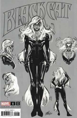 Black Cat #1 1:100 Pepe Larraz Design Sketch Variant Marvel 2020 Jed MacKay