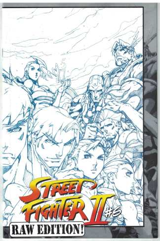 Street Fighter II #6 1:15 Raw Edition Lee Blue Wraparound Sketch Variant VF/NM