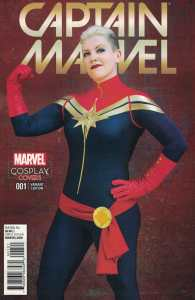 Captain Marvel #1 1:15 Cosplay Variant Marvel ANAD 2016