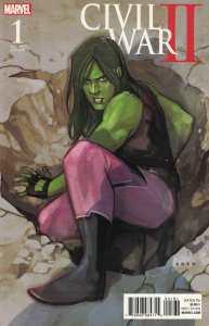 Civil War II #1 1:10 Phil Noto Variant She-Hulk Marvel 2016
