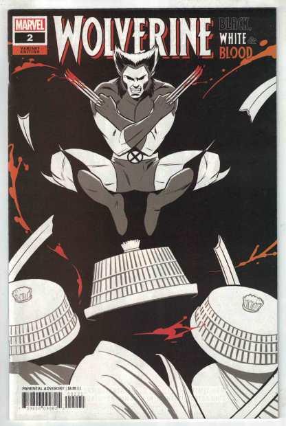 Wolverine Black White & Blood #2 1:25 Natacha Bustos Variant Marvel 2020 VF/NM