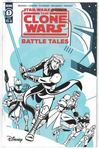 Star Wars Adventures Clone Wars Battle Tales #1 1:10 Charm Variant IDW VF/NM