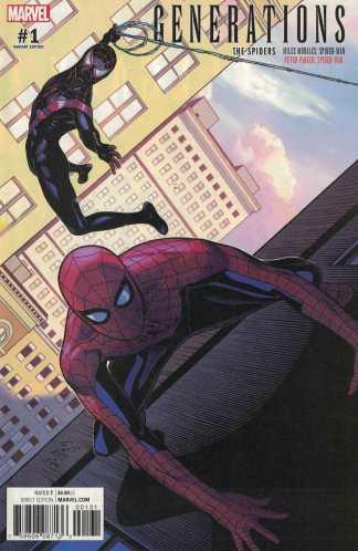 Generations Morales Parker Spider-Man #1 1:25 Chris Sprouse Variant Marvel