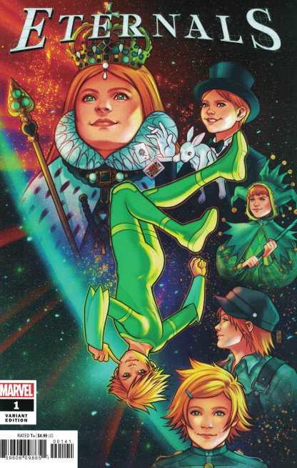 Eternals #1 1:25 Jen Bartel Variant Marvel 2021 Gillen Esad Ribic