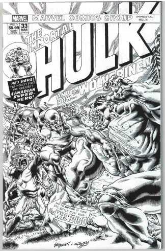 Immortal Hulk #33 Exclusive 250 Copy Joe Bennett B&W Sketch #181 Variant #750