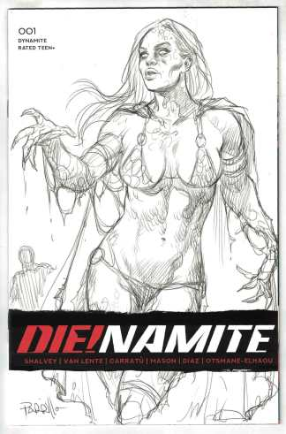 Die!namite #1 1:50 Lucio Parrillo Sketch Variant Dynamite 2020 VF/NM