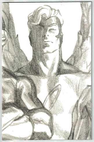 X-Factor #4 1:100 Alex Ross Timeless Sketch Variant X of Swords Angel VF/NM