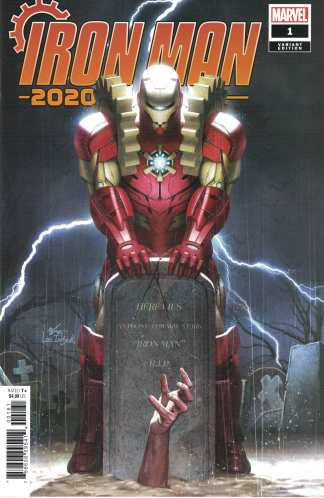 Iron Man 2020 #1 1:50 Lee InHyuk Variant Marvel Tony Stark RIP