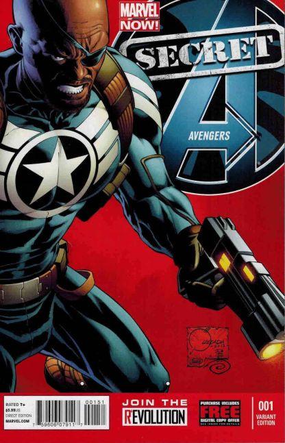 Secret Avengers #1 Marvel NOW Joe Quesada Color Variant 1:100 Cover