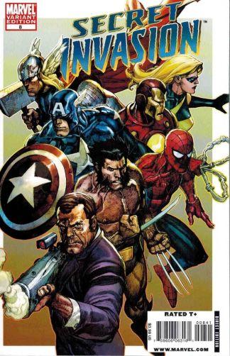 Secret Invasion #8 Leinil Yu Color Variant Marvel 2008