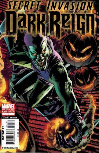 Secret Invasion: Dark Reign #1 Bryan Hitch 1:20 Green Goblin Variant