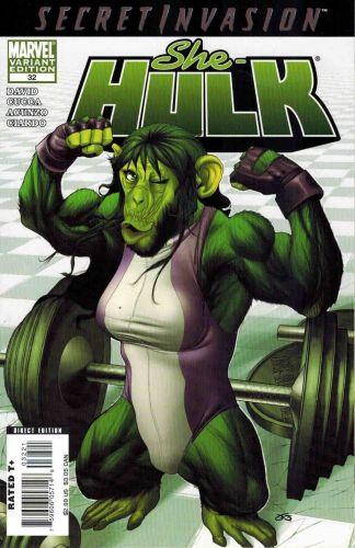 She-Hulk #32 Frank Martin Marvel Apes Variant