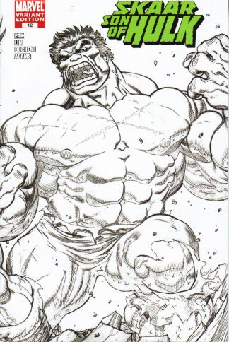 Skaar: Son of Hulk #12 Ed McGuinness Sketch Wrap Variant