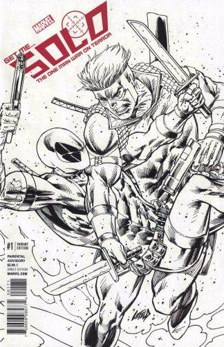Solo #1 1:100 Rob Liefeld Sketch Variant NOW Marvel 2016 Rare Deadpool